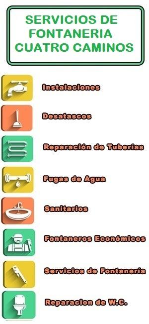 servicios de fontaneria en Cuatro Caminos