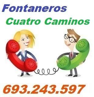 Telefono de la empresa fontaneros Cuatro Caminos